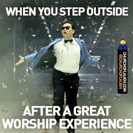After worship Christian meme