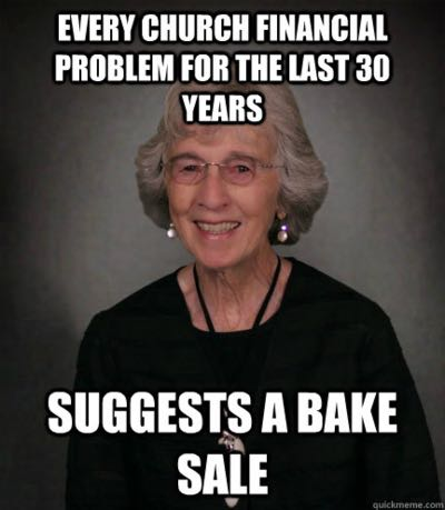 Bake sale church meme