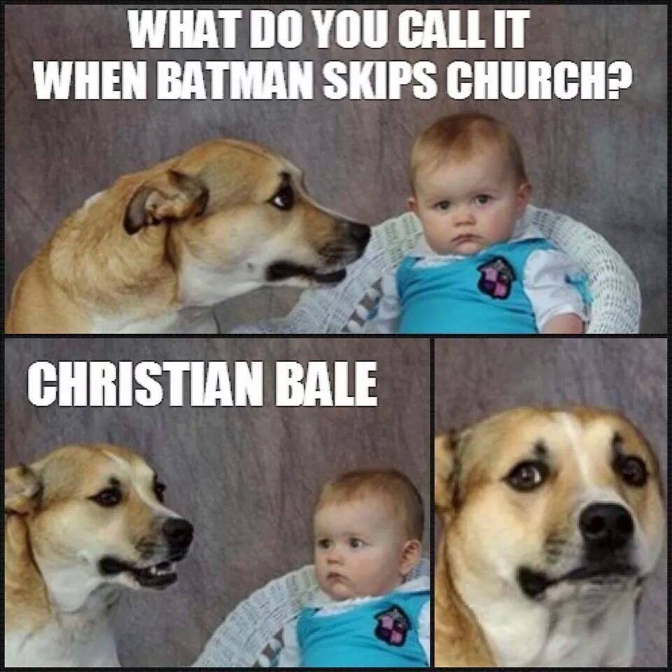 Christian Bale church meme