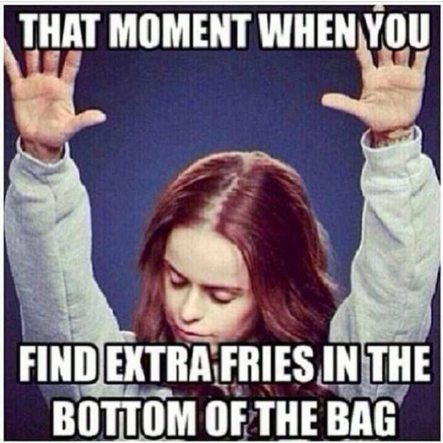 Extra fries in the bag christian meme
