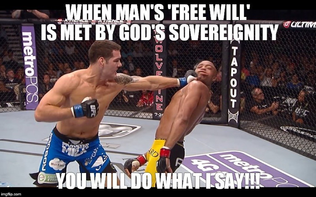 God vs man Christian meme