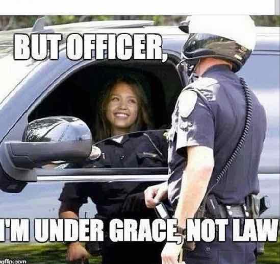 Grace not law christian meme