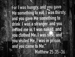 Matthew 25 35-36