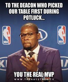 Potluck church meme