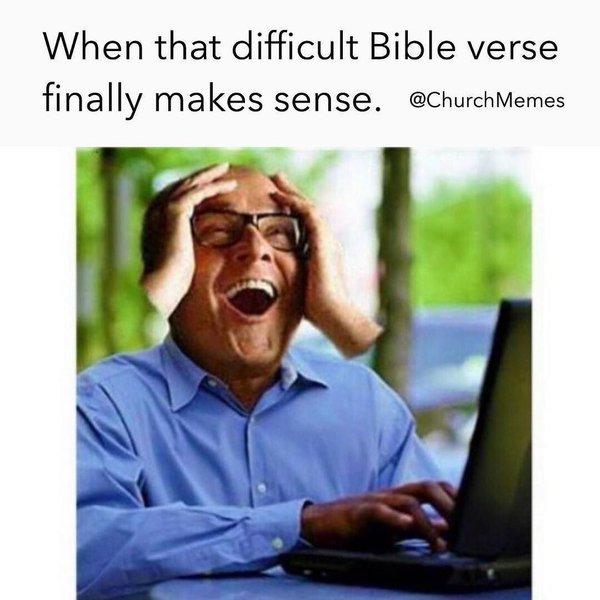 When you finally understand the verse meme