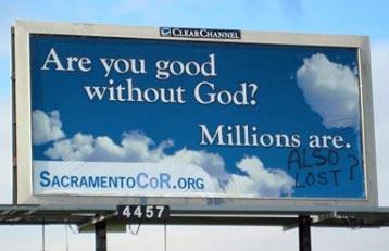 billboard Vandalized by Christians