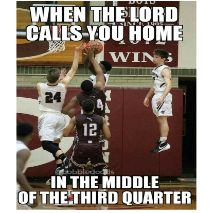 When God calls you home in the middle of the 4th quarter