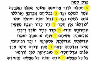 Hebrew Acrostic Psalm 145