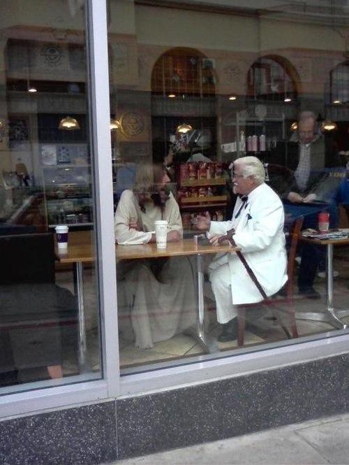 Jesus and Colonel Sanders