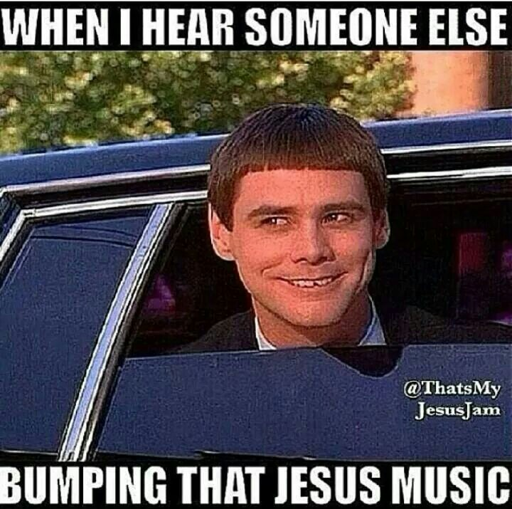 When I hear someone else playing Christian music