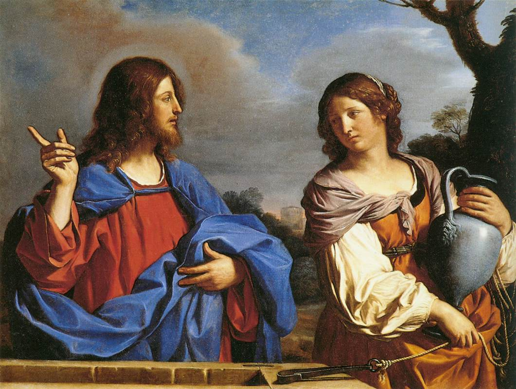 Guercino - Jesus and the Samaritan Woman at the Well