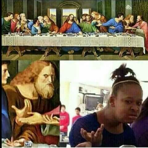 Last Supper confused member