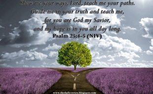 Psalm 25:4-5