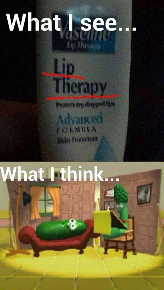 Veggie Tales lip therapy