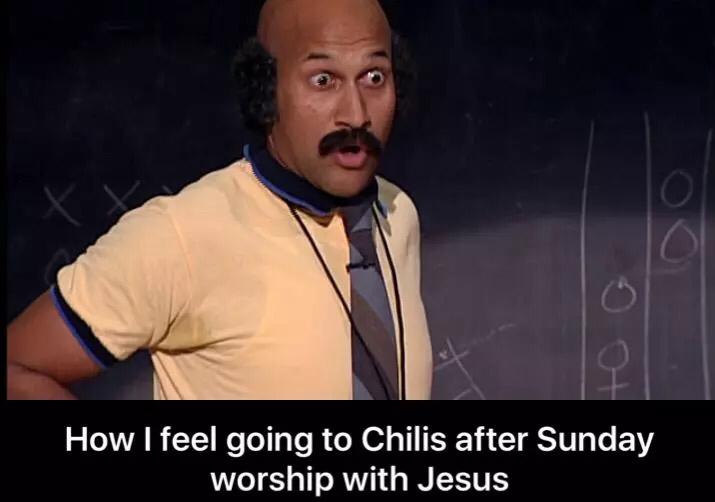 After Sunday worship meme