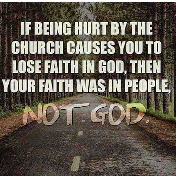 Faith in people not God