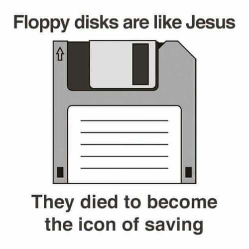 Jesus and floppy disks