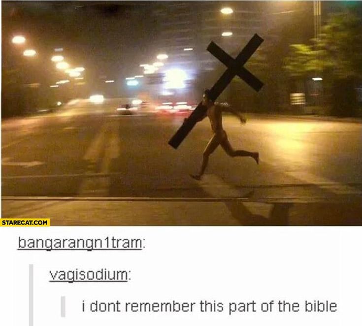 Jesus not in the Bible meme