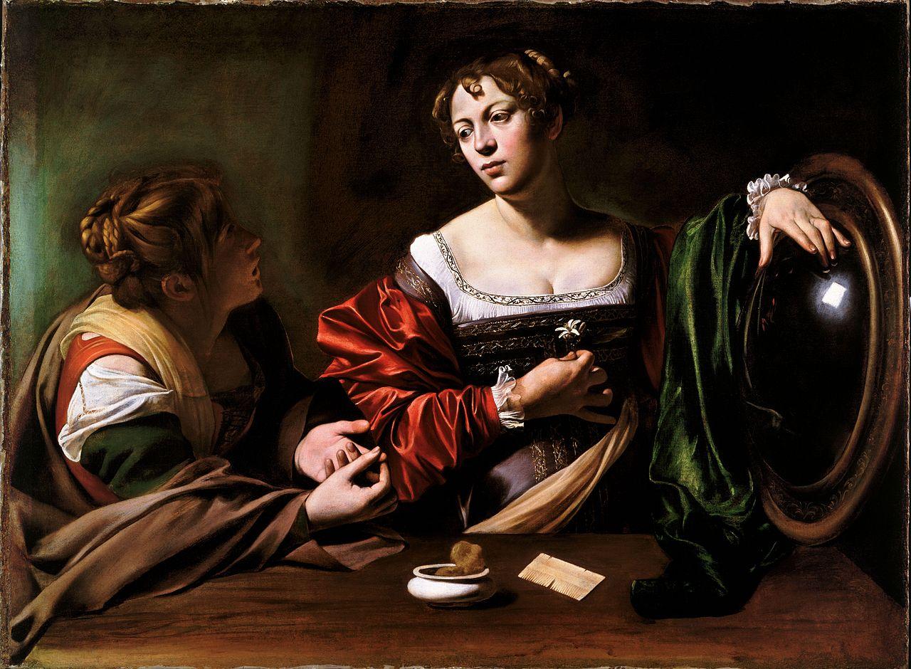 Martha and Mary Magdalene, Caravaggio (1599)