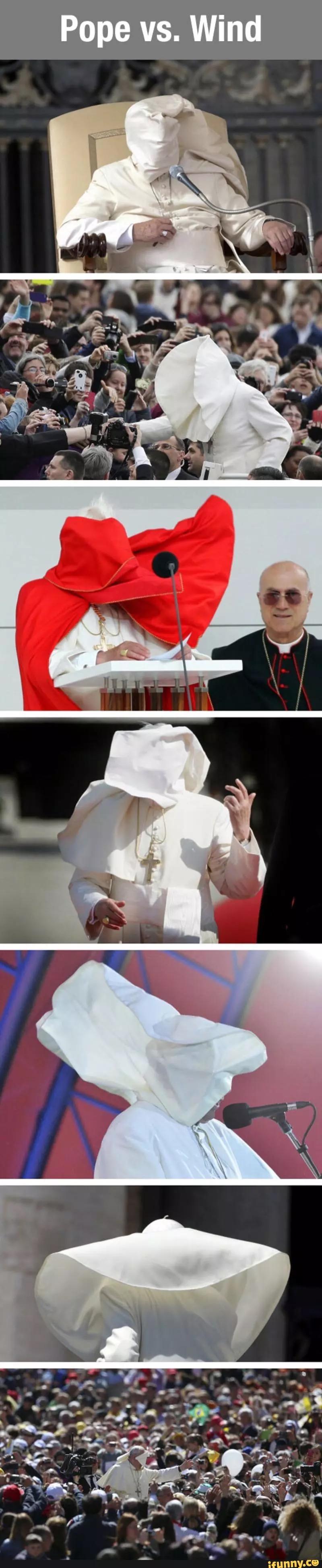 Pope VS wind meme