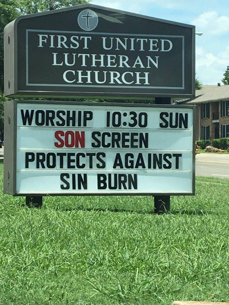 Son screen and sin burn Christian church sign meme