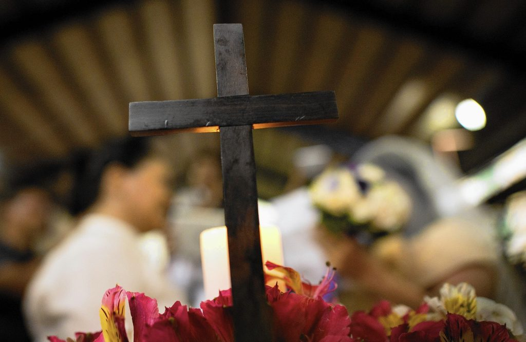 Church wedding cross