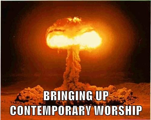 Contemporary worship meme
