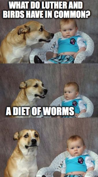 Diet of worms meme