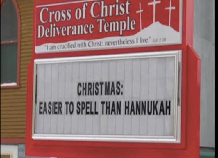 Easier to spell than chunacha church sign