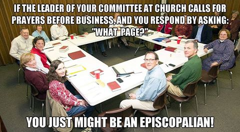 Episcopal prayer meme