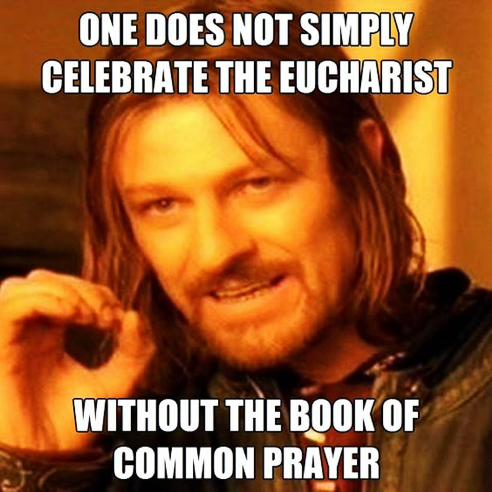 Eucharist book of common prayer meme
