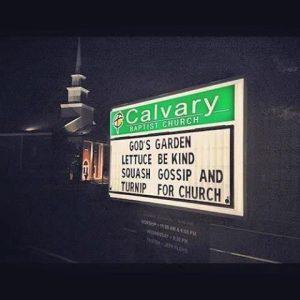 Gods garden church sign