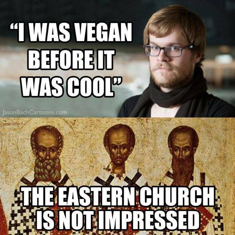 Orthodox vegan meme