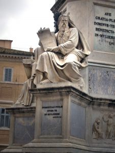 Piazza di Spagna, Moses with horns