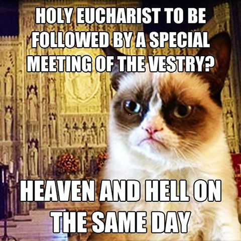 Vestry after the Eucharist meme