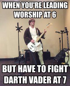 When you gotta worship but you battling later