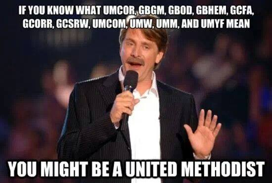 You might be a methodist if