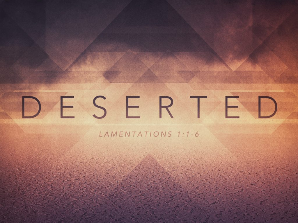 Daily Bible Reading Devotional [Lamentations 1:1-6] – September 10th, 2016