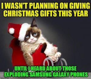 samsung-exploding-phone-christmas-meme-grumpy-cat