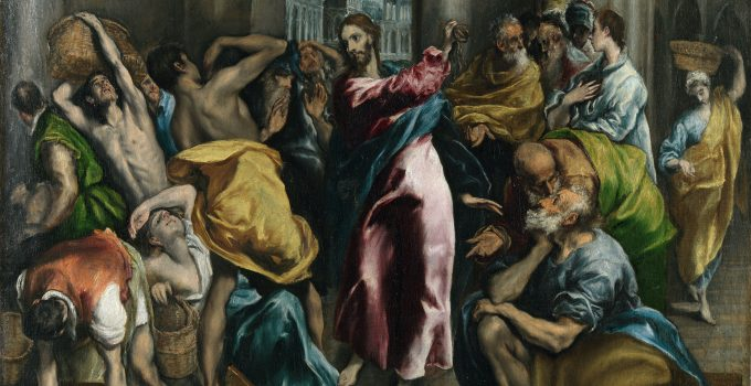 El Greco Jesus driving out the money changers