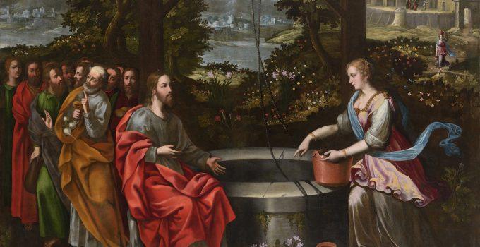 Jesus et la Samaritaine apres restauration