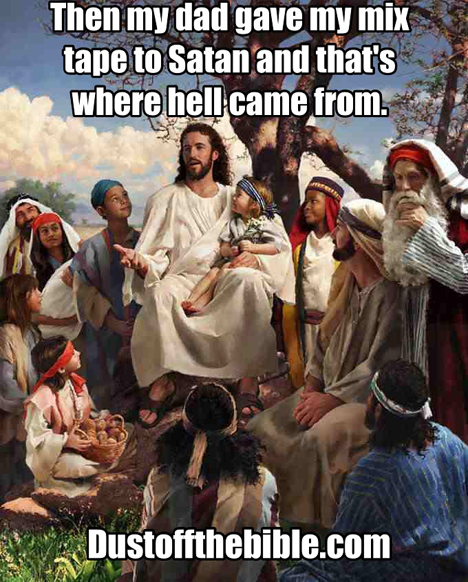 Story time Jesus mix tape meme