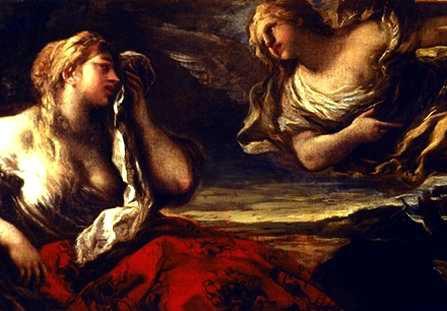 The angel speaks to Hagar