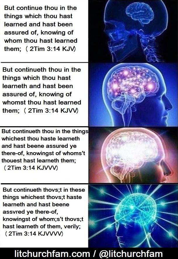 Whats better than the KJV meme