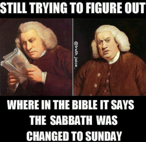 When Sunday became the Sabbath meme