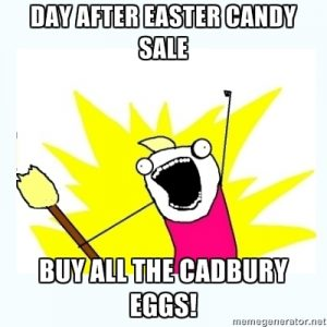 After easter chocolate meme