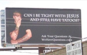 Can you have tattoos and still love Jesus