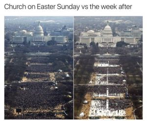 Church attendence after easter meme