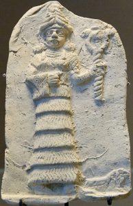Ishtar Eshnunna, with double snake staff