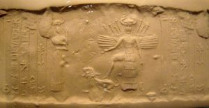 Ishtar seal with a lion and wings